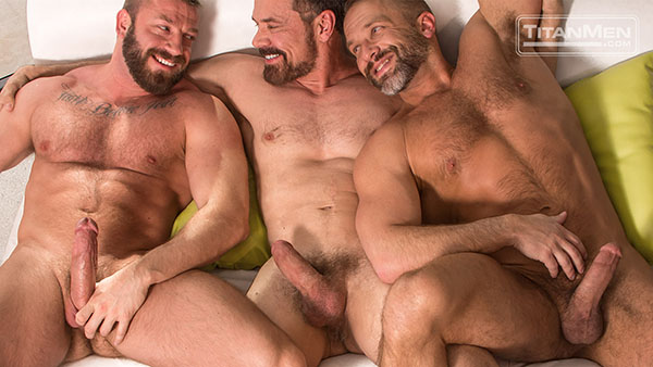 Package: Officer Dirk leads a 3-way with Hunter Marx and Daddy Max
